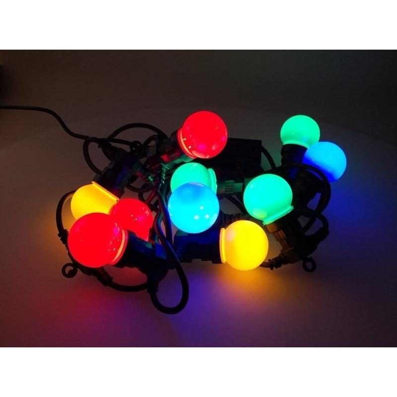Feest verlichting 10 gekleurde bol ledlampjes voor maar € 26.95 bij ...